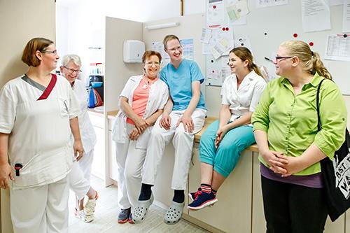 Teambild der Pfleger